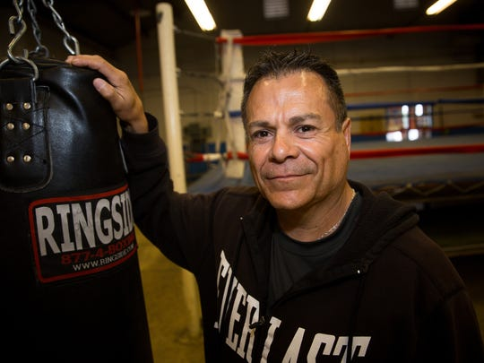 Doña Ana County Detention Center director Christopher Barela poses for the camera at the Las Cruces Police Athletic League Gym, April 8, 2016.