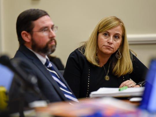 Metro Law Director Jon Cooper, seen here with Mayor Megan Barry, in October