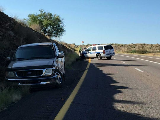 Arizona Department of Public Safety trooper Jeremy Barr used his car as a barricade to stop a wrong-way driver on Interstate 17 on Aug. 22.