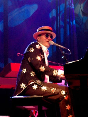 Greg Ransom as Elton John in the tribute act Bennie and the Jets.