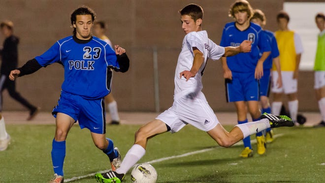 Owen alum Matt Brouwer, right, will play in Tuesday's East-West All-Star boys soccer game.