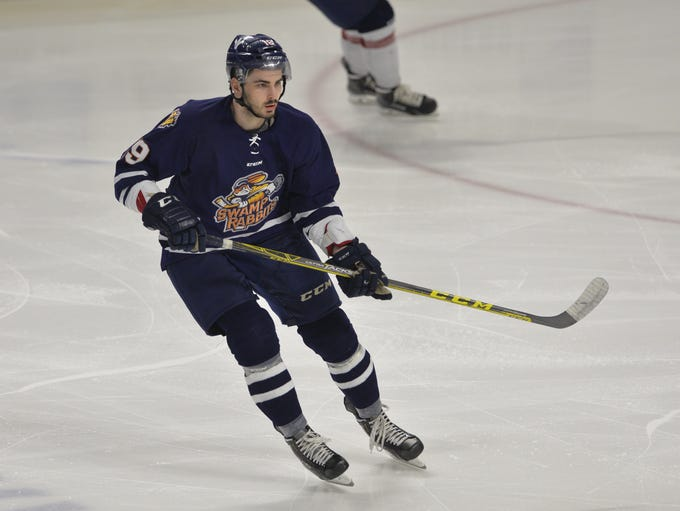 The Greenville Swamp Rabbits hosted the Kalamazoo Wings