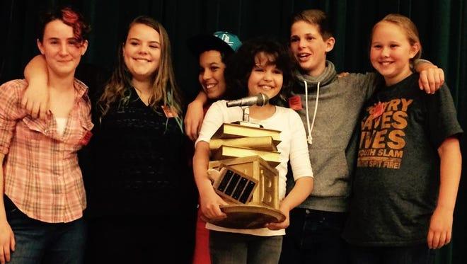 The winning team from Francine Delaney at Wordslam 2015.