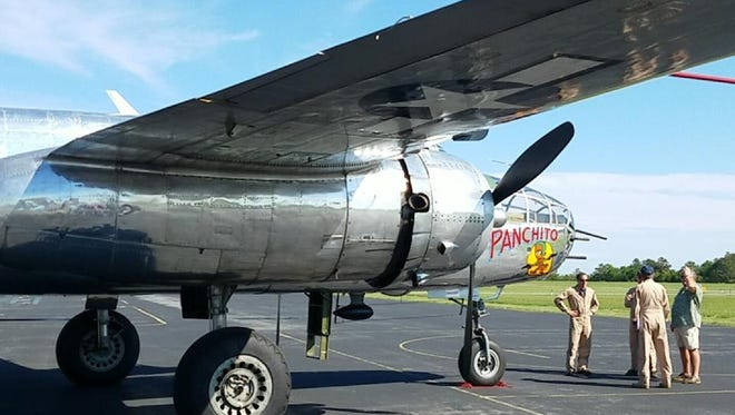 "When Navy pilot AJ Turo was in Ocean City for the airshow, he arranged for his dad and brother, Dominic, to take a ride on the ""Panchito,"" a World War II era B-25 airplane, June 17."