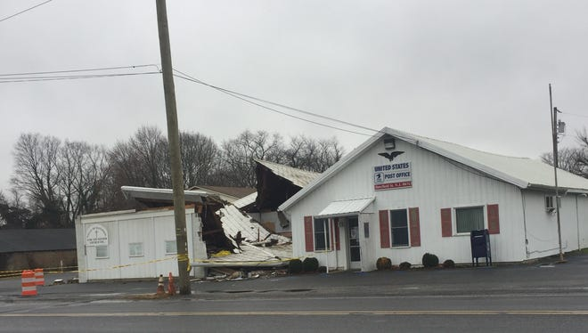The Wells of Salvation Good the Father Church Inc. in Upper Deerfield Township sustained major damaged after it was struck by a tractor trailer following a collision Sunday on Route 77.