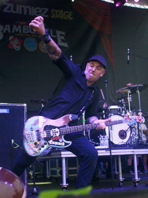 Bryan Kienlen of the Bouncing Souls, pictured on stage in Asbury Park in 2012.