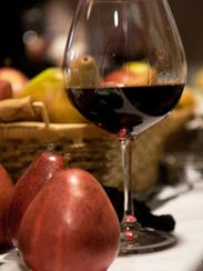Enjoy cheeses, pears and wine at the Wine, Pear & Cheese