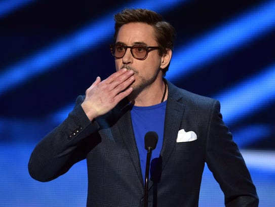 Fans' choice for favorite movie actor: Robert Downey