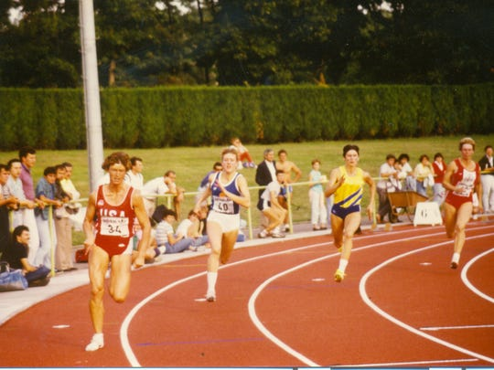 Cindy Greiner (left) was a three-time Olympian in the heptathlon. She finished fourth in Barcelona in 1992.