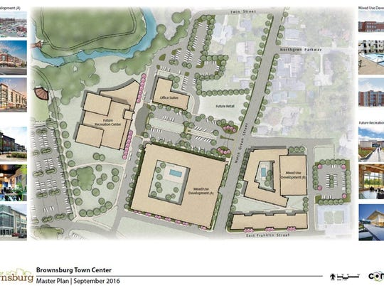 The Town Center masterplan shows a proposed office