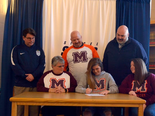 Siegel soccer standout Hayli Meeks recently signed