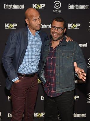 Keegan-Michael Key and Jordan Peele attend an Special Advanced Screening Of Key & Peele on October 9, 2014 in New York City.