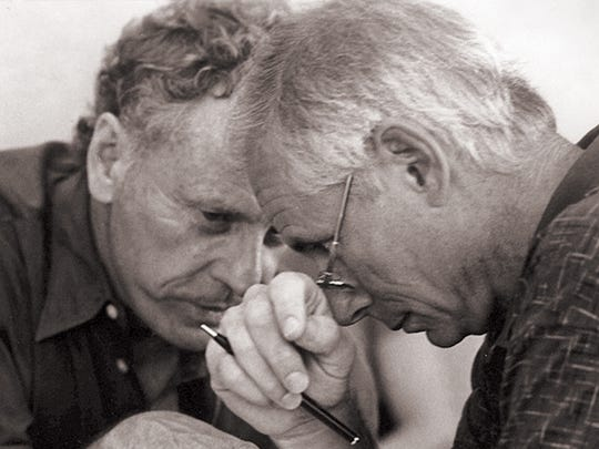 Morris Dees (left) and Joe Levin, co-founders of the