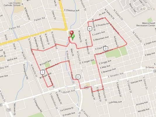 Mayor's Bike Ride route