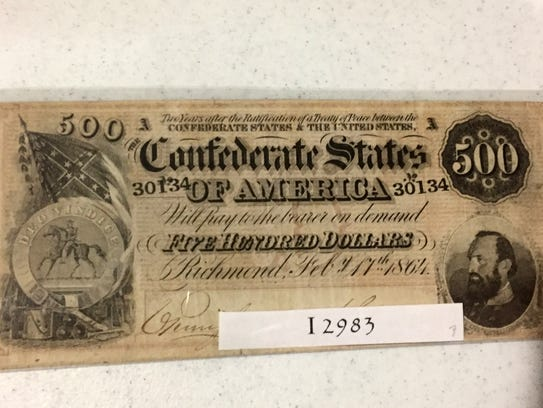 Confederate States of America $500 bill