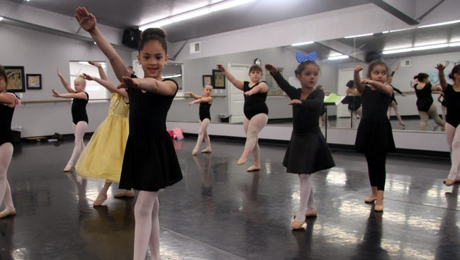 Raylynn Mendoza, 6, spends 9 hours a week in dance classes of all kinds.