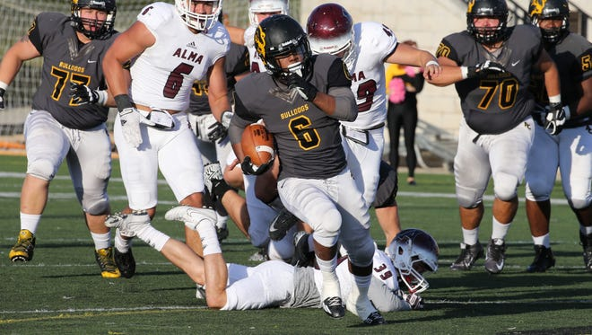 Emmanuel Stewart sat out the 2016 season but led the MIAA in rushing in 2015 with 1,487 yards.