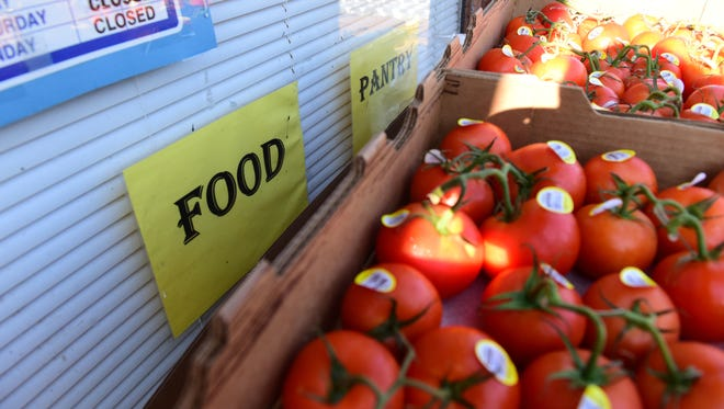 A pallet of fresh tomatoes were delivered to The Grandparent Relatives Care Senior Community Resource Center for distribution on Hamilton Ave in Paterson Monday morning.