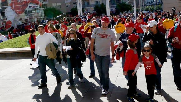 Reds fans enter GABP.