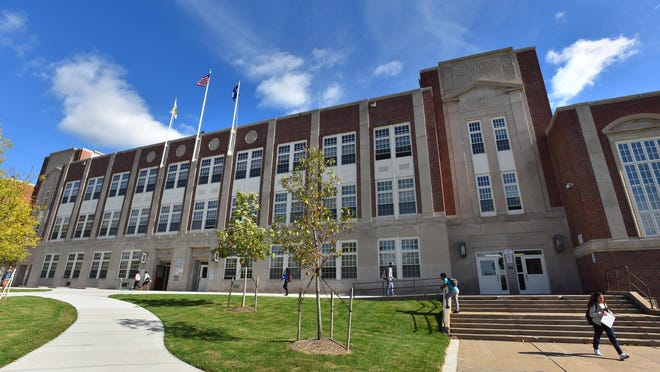 Students will not return to Thomas R. Proctor High School in Utica in the fall, but will continue to study remotely. Elementary school students in the district will attend school two days a week and learn remotely the other three days. [FILE PHOTO}