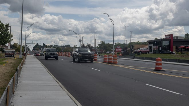 The project to reconstruct a one-mile stretch of Howe Avenue is expected to be finished in about three weeks.