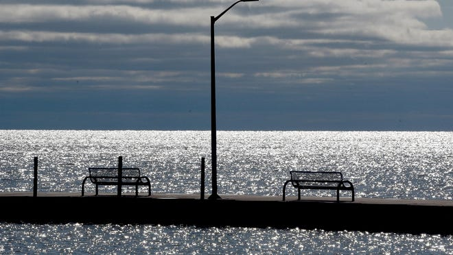 Lake Erie is pictured in the City of Luna Pier. The Coast Guard has released tips for handling water safety during the winter months.