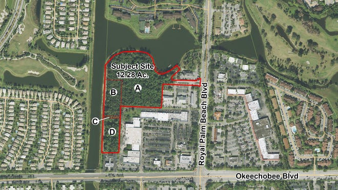 A townhome community is being proposed for this site in Royal Palm Beach near the intersection of Okeechobee and Royal Palm Beach boulevards.