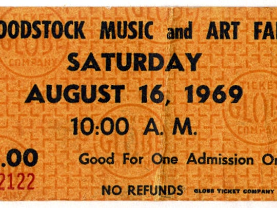 A ticket to the Woodstock Music and Art Fair.