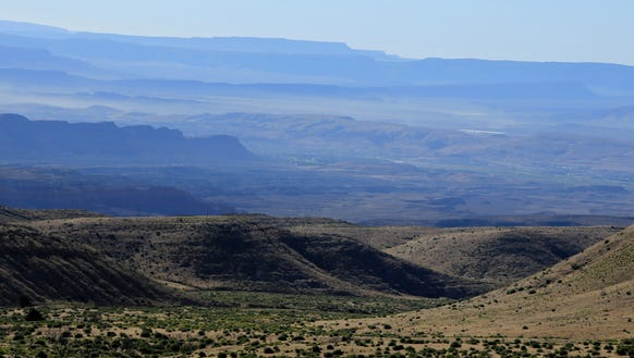 The St. George area can be seen in the background from