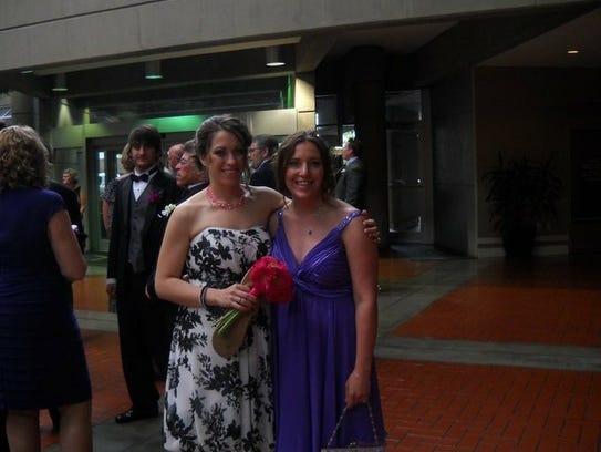Amanda Economou (left) and Kostadina Donnelly (right)