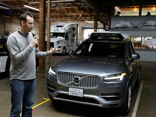 Anthony Levandowski, shown here during a briefing at