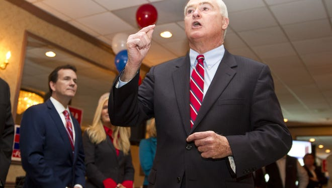 Freeholder John Curley celebrates his victory.Monmouth County Republicans gather at the Jumping Brook Country Club to celebrate the victories of this years election. Neptune City, NJ Tuesday, November 3, 2015 @dhoodhood