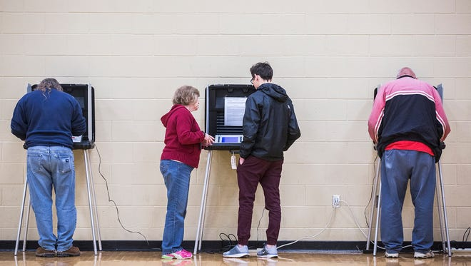 Voters at Muncie's Southside Middle School in a prior election.