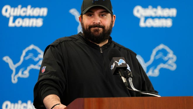 Detroit Lions head coach Matt Patricia takes questions at a press conference before practice at the Lions Headquarters and Training Facility on Tuesday, June 5, 2018.