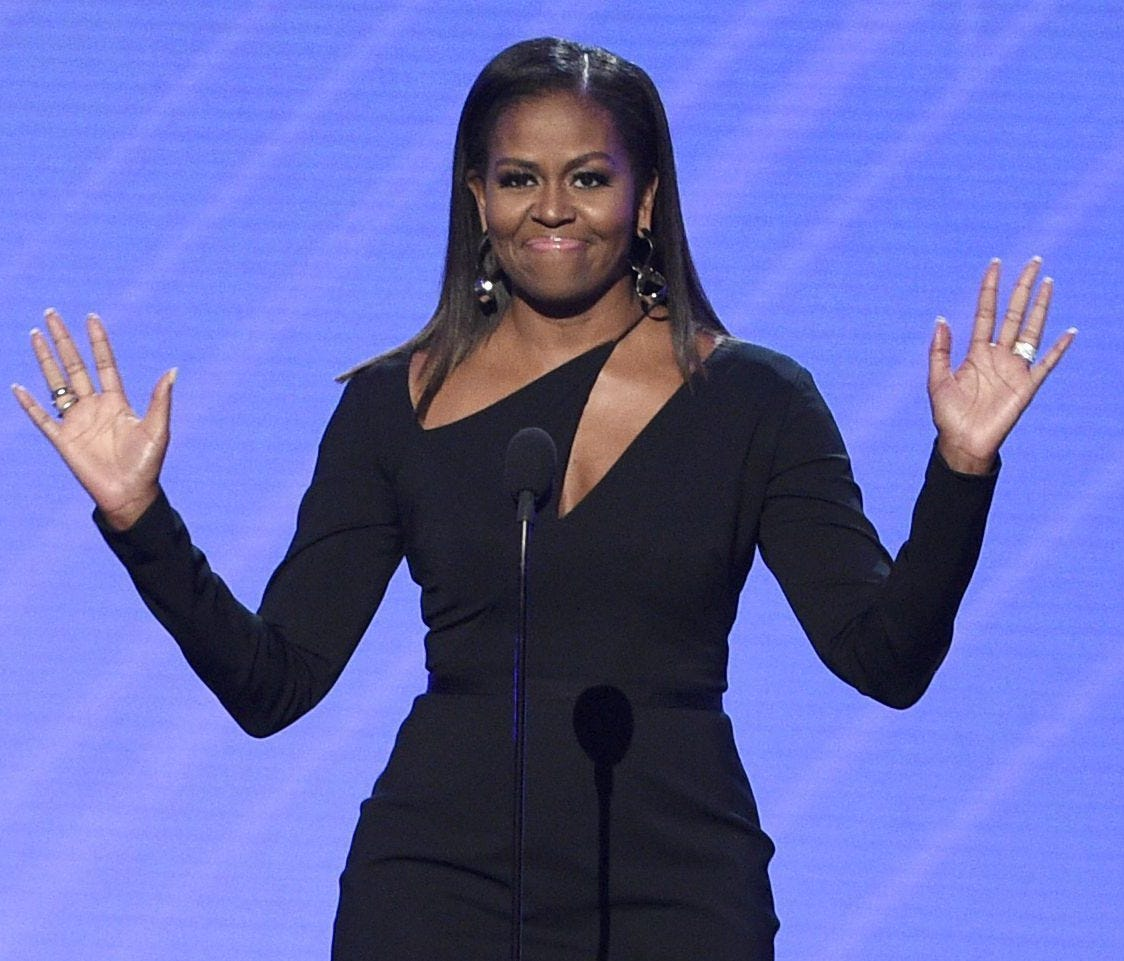 When your friend asks you to name a time when Michelle Obama has looked better.