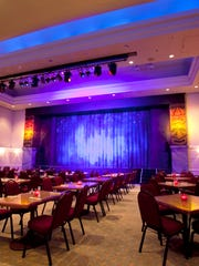 """The intimate theater for the """"Hank Rice Comedy Magic Show"""" is the perfect setting for a date night or fun with the family."""