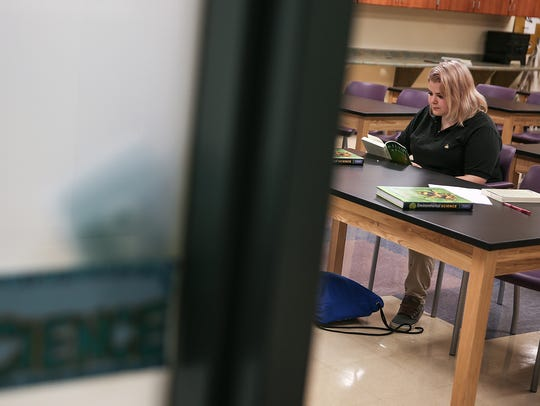 """Sophi Herrick, 16, reads a chapter from """"Silent Spring"""""""