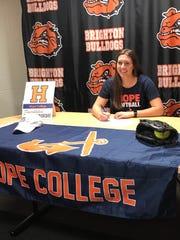 Brighton softball player Chloe Haskins signed with