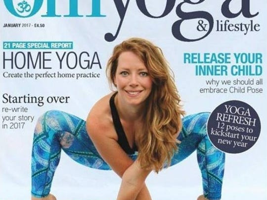 Randalle Love on the cover of Om Yoga & Lifestyle magazine.