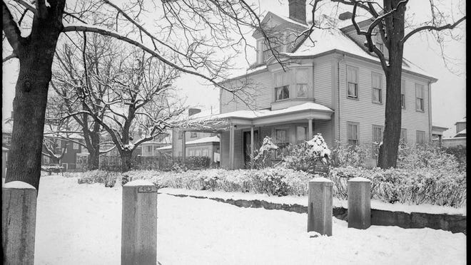 Here's the Curtis House at 463 Centre St. during the winter of 1939. According to the Jamaica Plain Historical Society, the house was built in 1722 for Joseph Curtis by his father, Samuel Curtis. Learn more at www.jphs.org/people/2005/4/14/curtis-family-homestead.html.