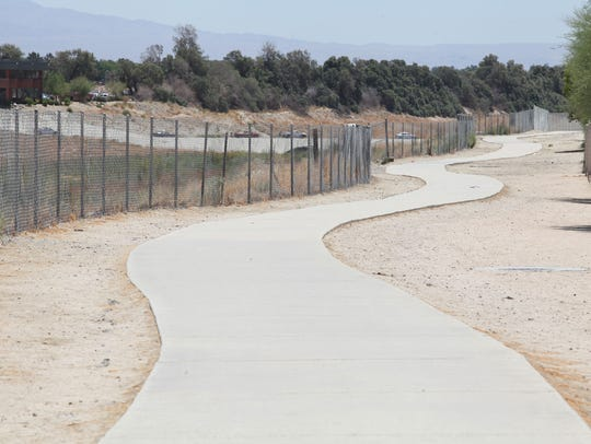 A paved path currently exists where the CV Link will