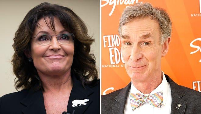 Sarah Palin and Bill Nye