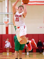 Port Clinton's Cooper Stine tries to score Tuesday against Margaretta.