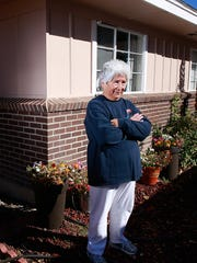 Nellie Sandoval stands outside her Farmington home on Oct. 20.
