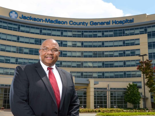 West Tennessee Healthcare CEO James Ross stands in