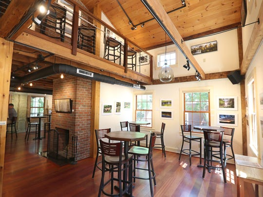 The inviting space at Seven Story Brewing includes