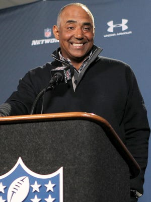 Bengals head coach Marvin Lewis addresses the media during the NFL Combine.