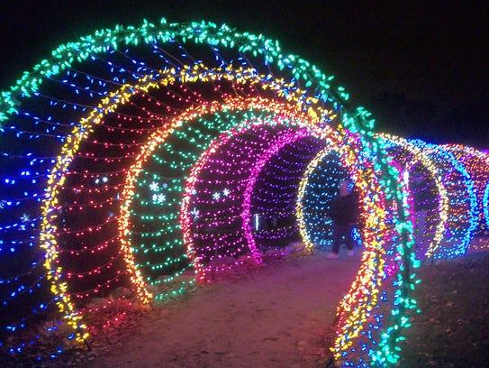 The 60-foot long caterpillar is the WPS Garden of Lights'