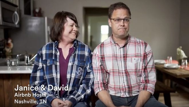 Airbnb is launching a six-figure television ad blitz in the Nashville market over the next two months as the fight continues over short-term rentals. The ad introduces this couple, Janice and David, Nashville Airbnb hosts.