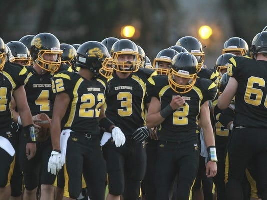 Enterprise plays out of section opponents in three out of four nonleague games in 2014. (GREG BARNETTE/RECORD SEARCHLIGHT)